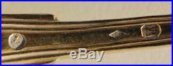 12 CUILLERES A ENTREMET VERMEILLÉE ARGENT POINCON VIEILLARD PARIS 555 g