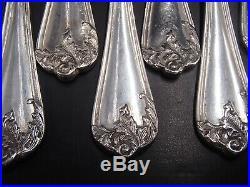 12 Fourchettes A Huitre En Argent Massif Poincon Minerve Modele Louis XV