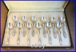 12 Petites Cuillères Argent Massif Poinçonné 11 cm Café Dessert Moka no Minerve