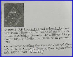 12 cuillères à dessert/thé/café argent massif vermeil poinçon Vieillard, 13,3 cm