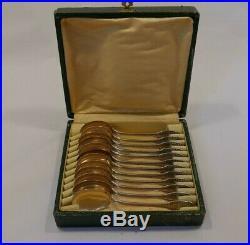 12 pelles à glace cuillères en argent massif poinçon Minerve 302g