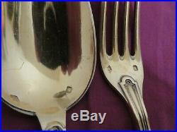 18 Couverts Vermeil Argent Massif Poincon Minerve Silver Gold Set 1,68 KG