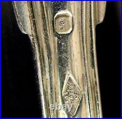 24 FOURCHETTES ARGENT MASSIF Armoiries Poinçon Minerve 950/1000 Poids 1980 gr