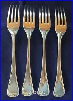 4 fourchettes argent massif, poinçon 800, orfèvre ReD, l. 17,5 cm, poids 195 g