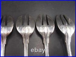 6 Fourchettes A Huitres Argent Massif Poincon Minerve 1 Er Titre Modele Filets