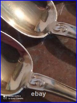 6 Petites Cuillères en Vermeil Poinçon Minerve Style Louis XV