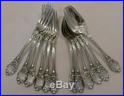 6 couverts à entremet fourchette cuillères argent massif poinçon Vieillard 686g