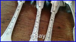 6 cuillères argent massif poinçons modèle double filet au vieillard hteur 20 cm