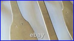 6 cuillères en argent massif poinçon minerve uniplat 21 cm très bel état