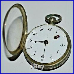 ANCIENNE MONTRE COQ BOITIER ARGENT Poinçon MINERVE Mouvement à restaurer montre