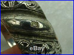 ANCIEN BRACELET MAROC-DEBDOU-MOYEN ATLAS POINCON AU BELIER 315gr