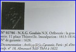 Adorable verseuse miniature égoïste, argent massif poinçon Vieillard, 10 cm