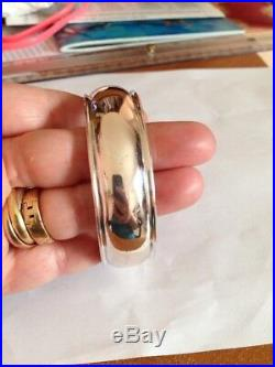 Ancien Bracelet Jonc Manchette argent Massif Poinçon 925 + Orfèvre
