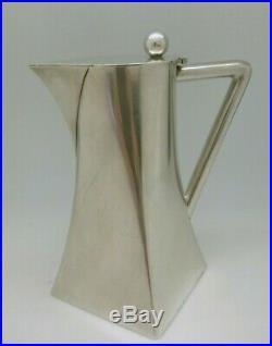 Ancien Pichet Eau / Vin Argent Massif Vermeil Poinçon Lune Allemagne Silverware