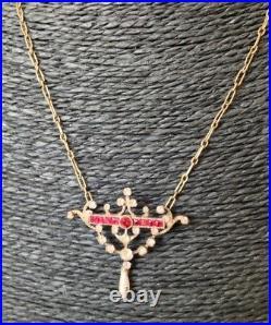 Ancien collier pendant Napoléon III, Argent Massif (poinçon au sanglier)