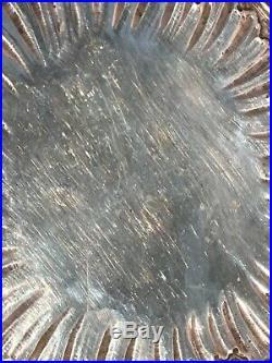 Ancien plat ajouré en argent massif, poinçons minerve, orfèvre M. G