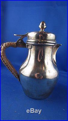 Ancien pot a lait verseuse en argent massif poincon minerve 19 eme style L XV