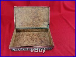 Ancienne Boîte en Argent Massif poinçon D. A. C, 1,329kg L23,5cm Indochine