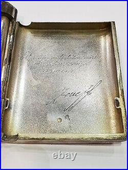 Ancienne boite a cigarette En Argent Massif. Poinçon Russie. AD2581
