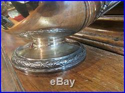 Ancienne cafetiere argent massif poincon minerve puiforcat style louis XVI