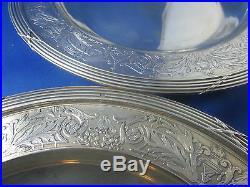 Ancienne paire plats argent massif poincon minerve epoque 19 eme style L XVI