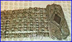 Ancienne parure XIX ème argent massif 850 collier ras cou et bracelet poinçon