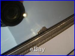 Avec poinçon de maître Puiforcat, Miroir de table monté argent massif #13#