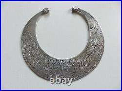BEAU COLLIER ANCIEN en ARGENT MASSIF BIJOUX ETHNIQUE poinçonné 154 gr