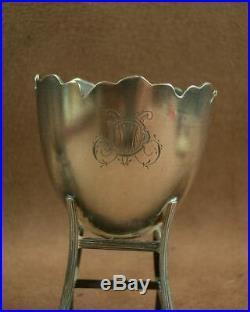 BELLE PAIRE DE COQUETIERS ANCIENS en ARGENT MASSIF POINCON MINERVE