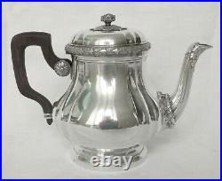 BOIN TABURET service à thé et café 8 pièces en ARGENT MASSIF, poinçon MINERVE