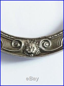 Beau Cadre en Argent Empire Napoléon 19e Couronne Légion d'Honneur Poinçon Lions