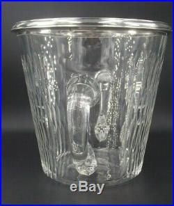 Beau Seau A Glace Rafraichissoir En Cristal Et Argent Massif Poincon Minerve