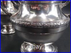 Beau Service The Cafe 3 Pcs Argent Massif Poincon Minerve 1 Er Titre Louis XV