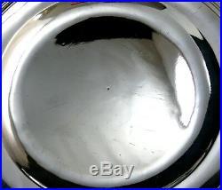 Beau plat rond, argent massif, poinçon au coq, 1798-1809, modèle à filets