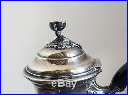 Belle Cafetiere Style Louis XV Rocaille En Argent Massif Poincon Minerve 556 G