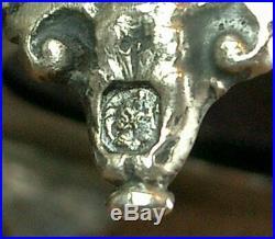 Belle Paire De Salerons En Argent Massif Poincon Minerve Decor Cygne St. Empire