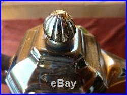 Belle chocolatière argent minerve, 640g, poincon Henin, fin 19ème, H24cm, TBE