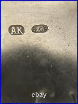 Boite Argent Massif Poincon Russe 84 Date 1907