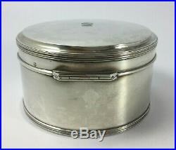Boite Argent Minerve XIX Eme Couronne Comtale Lys 376 Grammes Poinçon Af H998