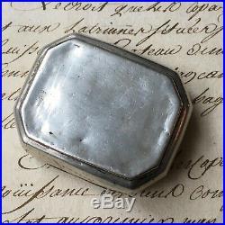 Boite à Pilules Argent Massif Poinçon Crabe XIXè Antique Silver Pill Box