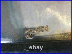 Boite en Argent Massif Qadjar Qajar Kadjar Silver Silber Perse Iran Poinçon 84