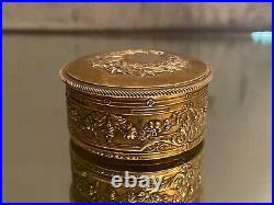 Boite en argent massif Vermeil poinçon Minerve XIXe style Louis XVI