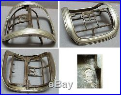 Boucle de ceinture en argent massif 18e siècle Poinçon Fermiers Généraux