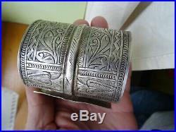 Bracelet ARGENT massif (poinconné)berbere105 gr tunisiesiwa auresafrique