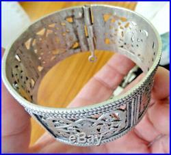 Bracelet ARGENT massif poinçonné berbere 65 gr tunisie aurés maroc alger afrique