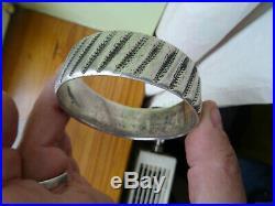 Bracelet ARGENT massif poinçonné et daté 33 berbere 125 gr maroc tunisie aurés