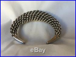 Bracelet Jonc Esclave Argent Torsade 117 Grammes Poincon A ID C1099