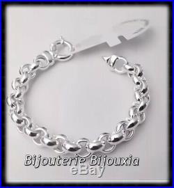 Bracelet Maille JASERON Large Argent Massif 925/1000 Poinçonné Bijoux Femme