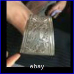 Bracelet berbère Argent Massif Ethnique Ciselé Gravures Rare poinçons