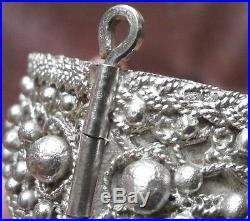 Bracelet berbère argent massif décor filigranne et boules Poinçon tête bélier